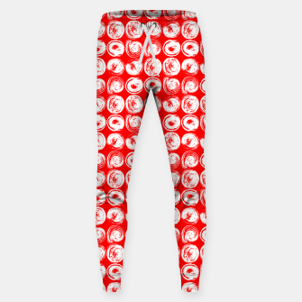 Miniatur Round brush strokes on red Sweatpants, Live Heroes