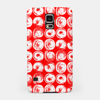 Miniatur Round brush strokes on red Samsung Case, Live Heroes
