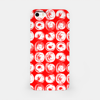 Miniatur Round brush strokes on red iPhone Case, Live Heroes