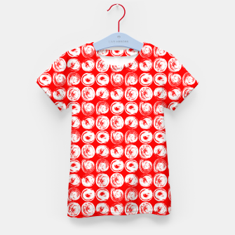 Miniatur Round brush strokes on red Kid's t-shirt, Live Heroes