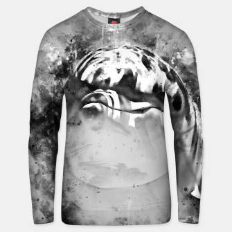 Miniatur gxp dolphin splatter watercolor black white Unisex sweater, Live Heroes