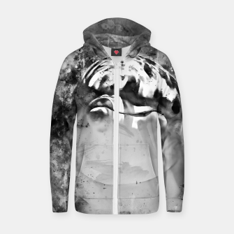Thumbnail image of gxp dolphin splatter watercolor black white Zip up hoodie, Live Heroes