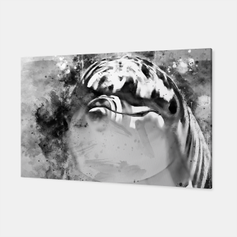 Thumbnail image of gxp dolphin splatter watercolor black white Canvas, Live Heroes