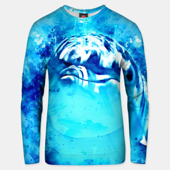 Thumbnail image of gxp dolphin splatter watercolor Unisex sweater, Live Heroes