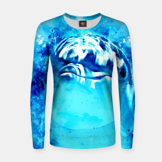 Thumbnail image of gxp dolphin splatter watercolor Women sweater, Live Heroes