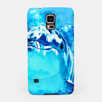Miniatur gxp dolphin splatter watercolor Samsung Case, Live Heroes