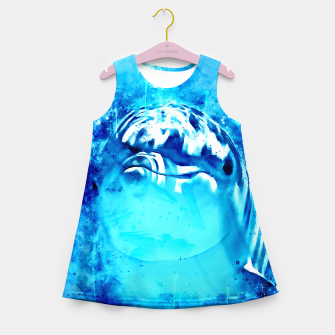 Thumbnail image of gxp dolphin splatter watercolor Girl's summer dress, Live Heroes