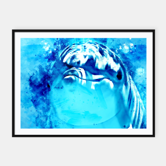 Miniatur gxp dolphin splatter watercolor Framed poster, Live Heroes