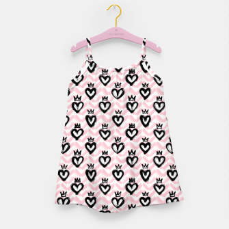 Thumbnail image of Hearts in crowns pattern / Pink Girl's dress, Live Heroes