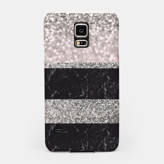 Thumbnail image of Gray Black Marble Glitter Stripes Glam #1 #shiny #decor #art Handyhülle für Samsung, Live Heroes