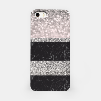 Thumbnail image of Gray Black Marble Glitter Stripes Glam #1 #shiny #decor #art iPhone-Hülle, Live Heroes