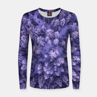 Thumbnail image of Winter Is Here - Aerial Woods Women sweater, Live Heroes