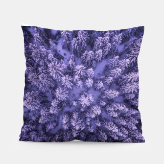 Thumbnail image of Winter Is Here - Aerial Woods Pillow, Live Heroes