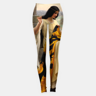 Thumbnail image of Stitching the Standard by Edmund Leighton Leggings, Live Heroes
