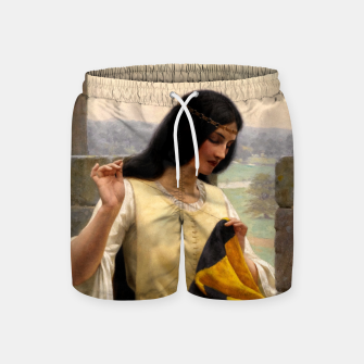 Thumbnail image of Stitching the Standard by Edmund Leighton Swim Shorts, Live Heroes