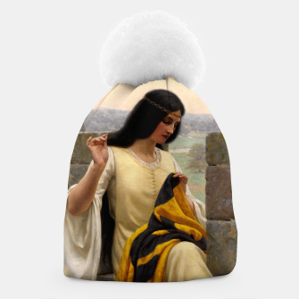 Thumbnail image of Stitching the Standard by Edmund Leighton Beanie, Live Heroes