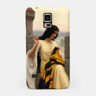 Thumbnail image of Stitching the Standard by Edmund Leighton Samsung Case, Live Heroes