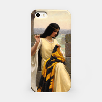 Thumbnail image of Stitching the Standard by Edmund Leighton iPhone Case, Live Heroes