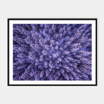 Thumbnail image of Winter Is Here - Aerial Woods Framed poster, Live Heroes