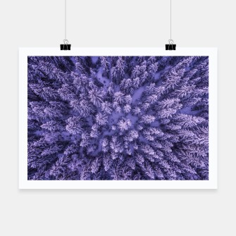 Thumbnail image of Winter Is Here - Aerial Woods Poster, Live Heroes