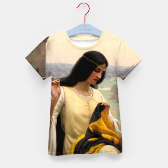 Thumbnail image of Stitching the Standard by Edmund Leighton Kid's t-shirt, Live Heroes