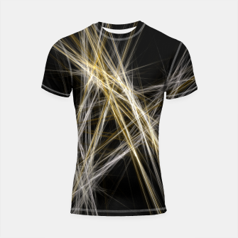 Thumbnail image of Abstract 1 - Gold & Silver Shortsleeve rashguard, Live Heroes