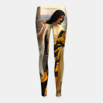 Thumbnail image of Stitching the Standard by Edmund Leighton Girl's leggings, Live Heroes