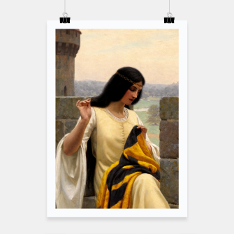 Thumbnail image of Stitching the Standard by Edmund Leighton Poster, Live Heroes