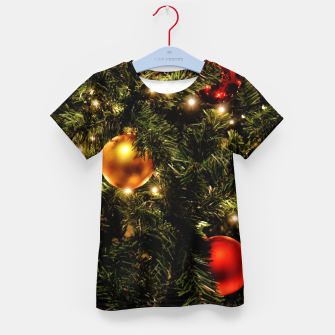 Thumbnail image of X-MAS - Christmas Tree Ornament Kid's t-shirt, Live Heroes