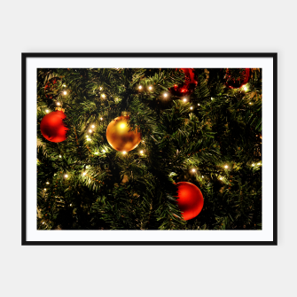 Thumbnail image of X-MAS - Christmas Tree Ornament Framed poster, Live Heroes