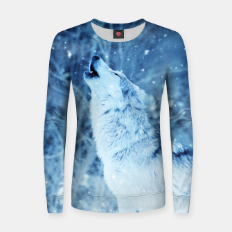 Thumbnail image of Winter Is Here - Wolf In Ice Cold Colors Women sweater, Live Heroes