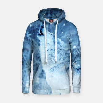 Thumbnail image of Winter Is Here - Wolf In Ice Cold Colors Hoodie, Live Heroes