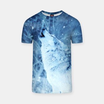 Thumbnail image of Winter Is Here - Wolf In Ice Cold Colors T-shirt, Live Heroes