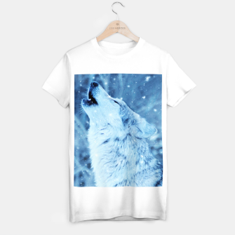 Thumbnail image of Winter Is Here - Wolf In Ice Cold Colors T-shirt regular, Live Heroes