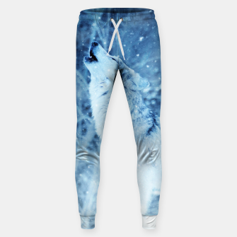 Thumbnail image of Winter Is Here - Wolf In Ice Cold Colors Sweatpants, Live Heroes