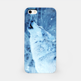 Thumbnail image of Winter Is Here - Wolf In Ice Cold Colors iPhone Case, Live Heroes