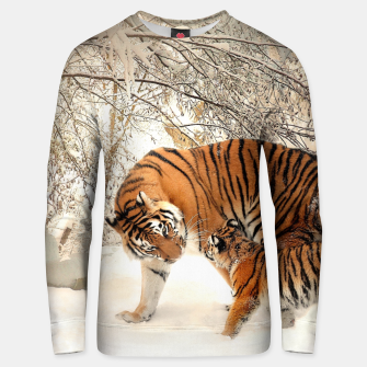 Thumbnail image of Animals Big Cats - Tiger In The Snow  Unisex sweater, Live Heroes
