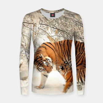Thumbnail image of Animals Big Cats - Tiger In The Snow  Women sweater, Live Heroes