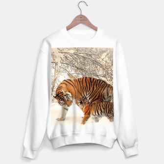 Thumbnail image of Animals Big Cats - Tiger In The Snow  Sweater regular, Live Heroes