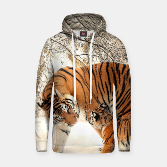 Thumbnail image of Animals Big Cats - Tiger In The Snow  Hoodie, Live Heroes