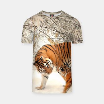 Thumbnail image of Animals Big Cats - Tiger In The Snow  T-shirt, Live Heroes