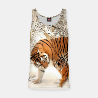 Thumbnail image of Animals Big Cats - Tiger In The Snow  Tank Top, Live Heroes