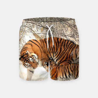 Thumbnail image of Animals Big Cats - Tiger In The Snow  Swim Shorts, Live Heroes