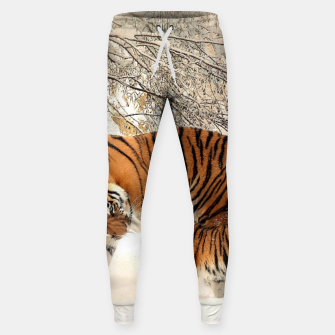 Thumbnail image of Animals Big Cats - Tiger In The Snow  Sweatpants, Live Heroes