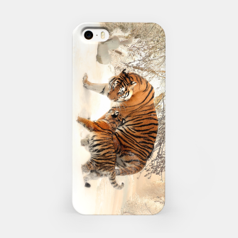 Thumbnail image of Animals Big Cats - Tiger In The Snow  iPhone Case, Live Heroes