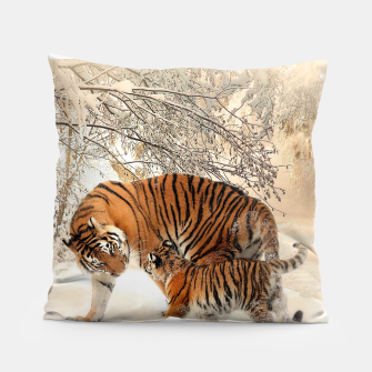 Miniature de image de Animals Big Cats - Tiger In The Snow  Pillow, Live Heroes