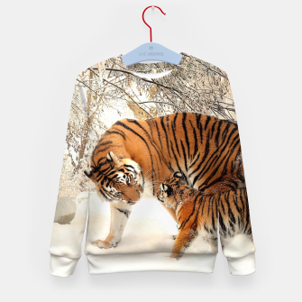 Thumbnail image of Animals Big Cats - Tiger In The Snow  Kid's sweater, Live Heroes