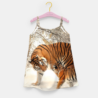 Thumbnail image of Animals Big Cats - Tiger In The Snow  Girl's dress, Live Heroes