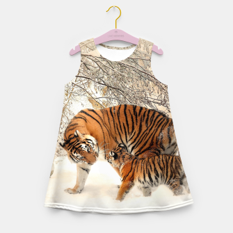 Thumbnail image of Animals Big Cats - Tiger In The Snow  Girl's summer dress, Live Heroes