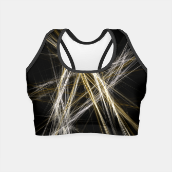 Thumbnail image of Abstract 1 - Gold & Silver Crop Top, Live Heroes